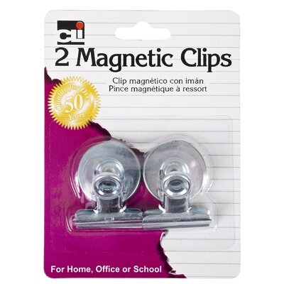 1.25 Magnetic Spring Clip 2 Count