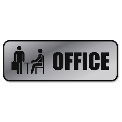 Brushed Metal Office Sign