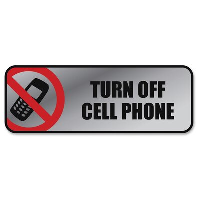 Turn off Cell Phone Image/Message Sign