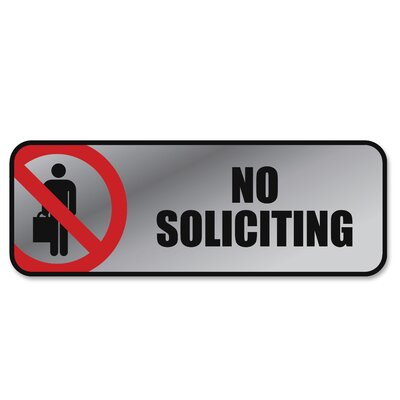 No Soliciting Image/Message Sign