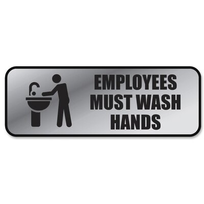Employee Wash Hands Sign