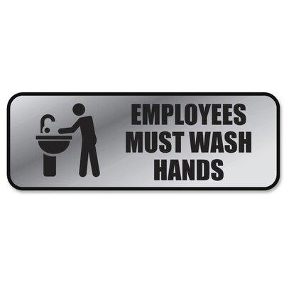 Employee Wash Hands Sign