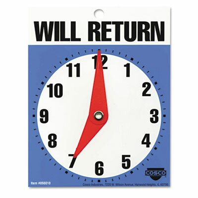 Will Return Later Sign in Blue  (Set of 3)