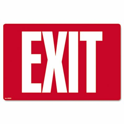 Exit Glow-In-The-Dark Sign in Red