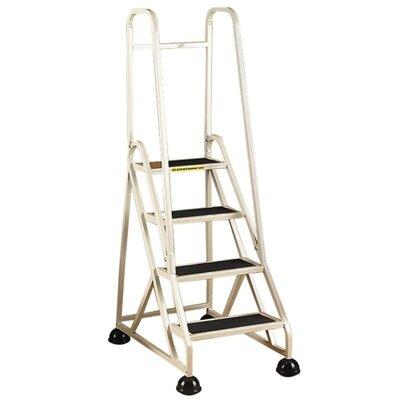 4-Step Aluminum Handrails Step Stool with 300 lb. Load Capacity