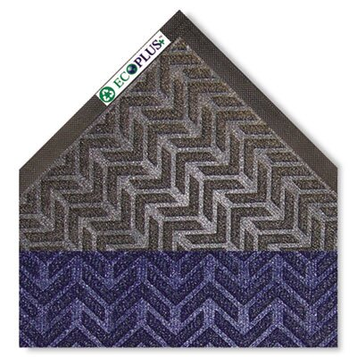 EcoPlus Doormat Color: Midnight Blue, Mat Size: Rectangle 3 x 10