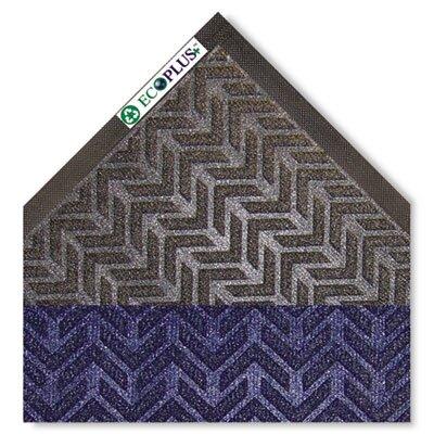 EcoPlus Doormat Color: Midnight Blue, Size: 3 x 10