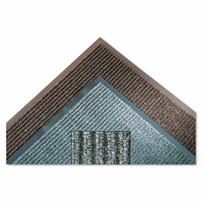 Needle Rib Doormat Mat Size: Rectangle 3x5, Color: Gray