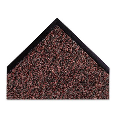Dust-Star Solid Doormat Rug Size: Rectangle 4x6, Color: Red