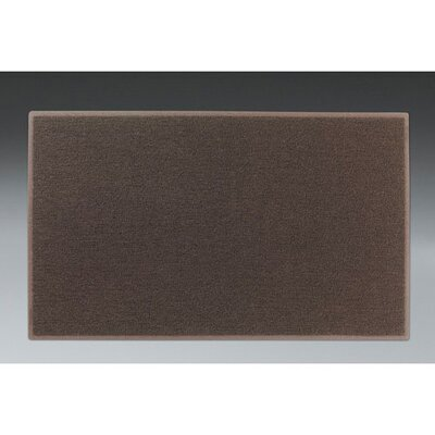 Dirt Stop Solid Kitchen Mat Mat Size: Rectangle 36 x 60, Color: Chesnut Brown