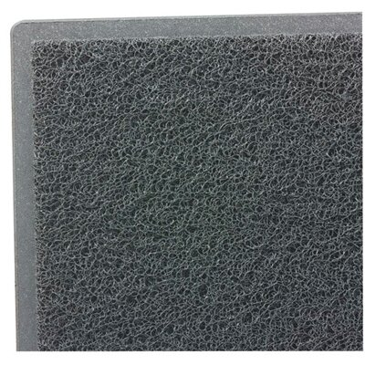 Dirt Stop Solid Kitchen Mat Mat Size: Rectangle 36 x 60, Color: Gray