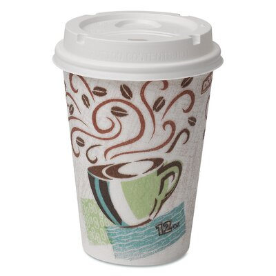 PerfecTouch Coffee Haze Grab N Go 12 oz. Cup and Lid Pack DXE5342COMBO6CT