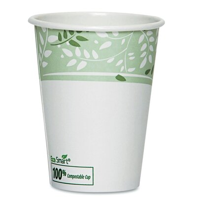 EcoSmart Hot Cups, Paper w/PLA Lining, Viridian (Pack of 50) (Set of 2) DXE2338PLAPK
