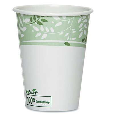 EcoSmart Hot Cups, Paper with PLA Lining, Viridian (Pack of 50) DXE2342PLAPK