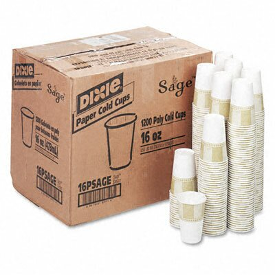 Pathways Polycoated Paper Cold Cups, 16 Oz, 1200/Carton DXE16PSAGECT