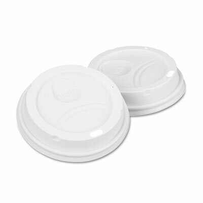 Dome Drink-Thru Lids, Paper Hot Cups Fits 10, 12 and 16 Oz., 50/Pack (Set of 2) DXE9542500DXPK