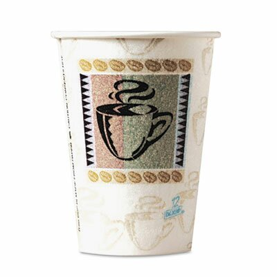 PerfecTouch Coffee Haze 8 oz. Insulated Paper Hot Cup DXE5338CDPK