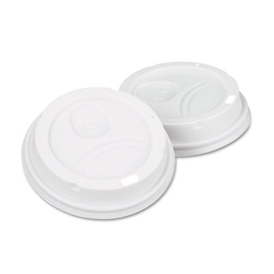 Dome Drink-Thru Lids, Paper Hot Cups Fits 10, 12 and 16 Oz., 500/Carton DXE9542500DXCT