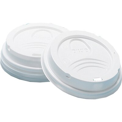 Dome Hot Drink Cup Lid in White DXED9538