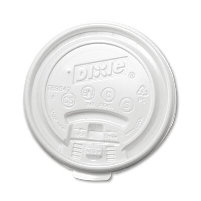 10 oz Plastic Lid for Hot Drink Cup in White DXETB9540