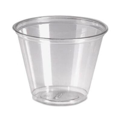 9 oz Cold Plastic Drink Cups in Clear Pack Size: 50 DXECP9APK