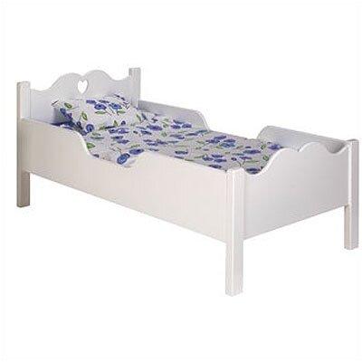Image of Scalloped Heart Toddler Bed Finish: White MDF (OZ1052_1232125)