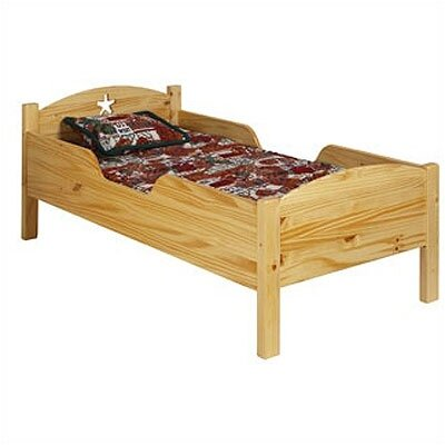 Image of Traditional Star Toddler Bed Finish: White MDF (OZ1057_1232420)