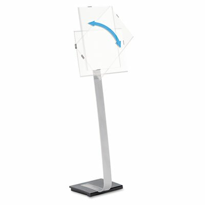 Info Sign Duo Floor Sign Stand For Letter-Size Inserts, 44-1/2 High