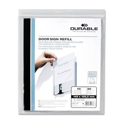 Replacement Paper Inserts, f/ 480123, 10/PK White