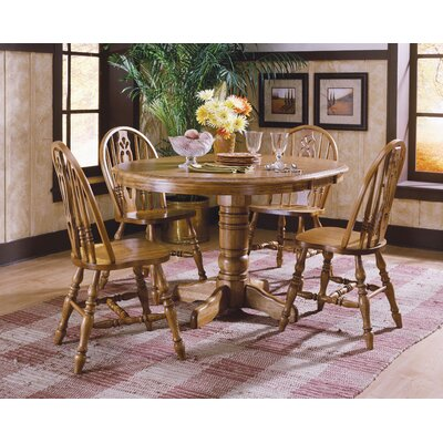 Antique Farmhouse Furniture on Tms Farmhouse 5 Piece Dining Set In Oak   69405oak