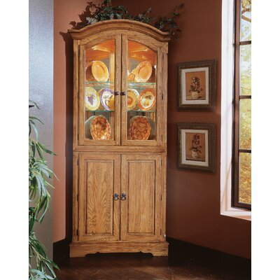 Buy Low Price Cochrane Thresher's Too Corner Cabinet in Distressed Antique Oak (DU1619)