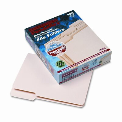 Esselte Cutless/Watershed File Folders, 1/3 Cut Top Tab, Letter, 100/Box at Sears.com
