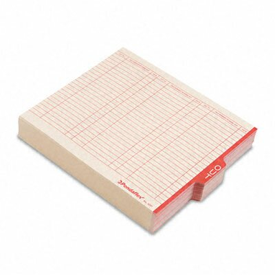 Outguides, Red Center Out Tab, Letter, 100/Box