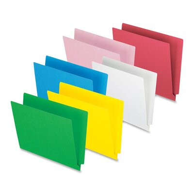 "Esselte End Tab File Folder,3/4"" Exp.,11 pt.,Letter,100 per Box,Red at Sears.com"