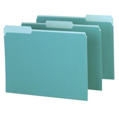 Esselte Interior Folder, 1/3 Tab Cut, Letter, Aqua - Color: Bt Green at Sears.com