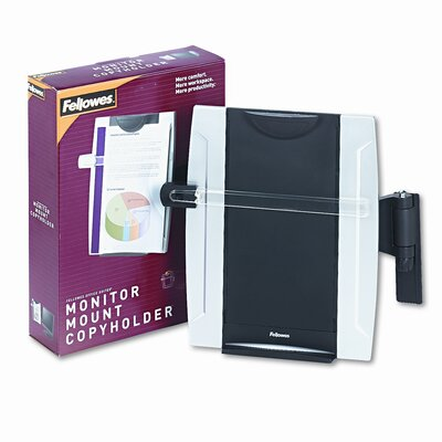 Office Suites Monitor Mount Copyholder, Plastic, Holds 150 Sheets