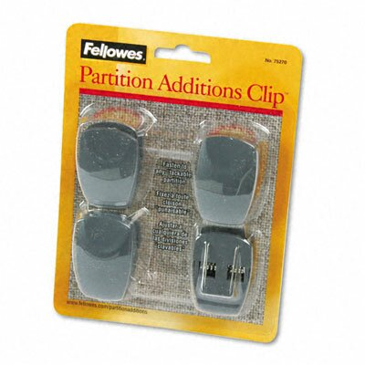 Plastic Partition Additions Clips, 4/Pack (Set of 2)