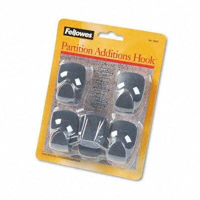 Plastic Partition Additions Hooks, 5/Pack (Set of 2) FEL75271