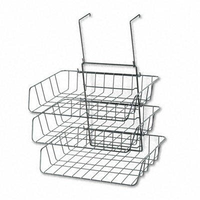 Wire Partition Additions Three-Tray Organizer