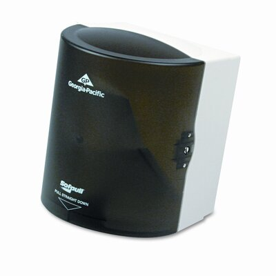 Sofpull CenterPull Hand Towel Dispenser, 9-1/4w x 8-3/4d x 11-1/2h, Smoke