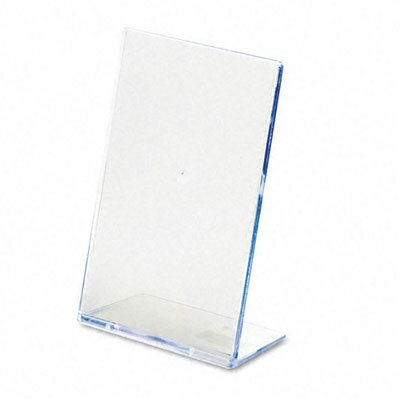 Slanted Desk Sign Holder, 4 Wide