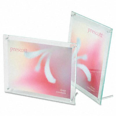 Superior Image Beveled Edge L-Frame Base Desk Sign Holder, Acrylic, 8-1/2 x 11