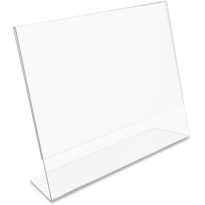 Inclined L-Frame Base Desktop Sign Holder, Plastic, 11 x 8-1/2