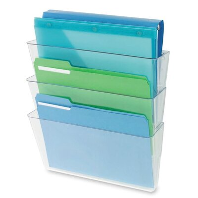 3 Letter Pocket Wall Pocket Color: Clear