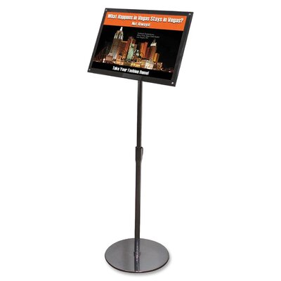 Telescoping Floor Sign Holder Size: 51 H x 18.75 W x 13 D