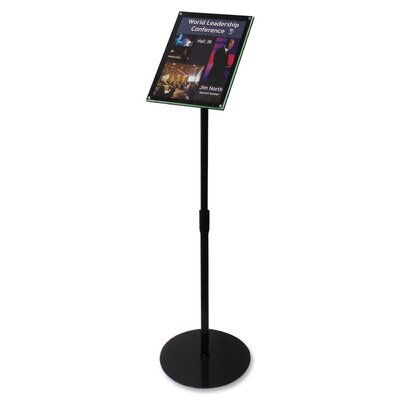 Telescoping Floor Sign Holder Size: 48 H x 13 W x 13 D