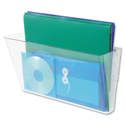 Letter Single Unit Wall Pocket Color: Clear