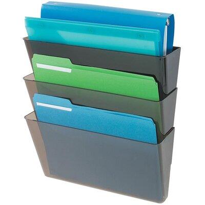 3 Letter Pocket Wall Pocket Color: Smoke