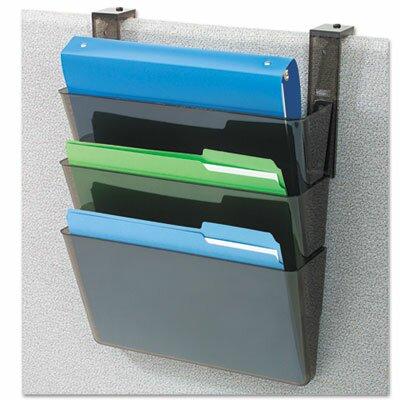 DocuPocket Three-Pocket Partition Set, Plastic, Letter, 13w x 4d x 7h, Black Color: Smoke