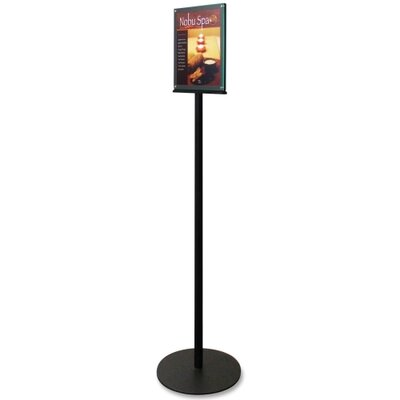 Magnetic Sign Stand, Dual Sided, 12-15/16x12-15/16,56, BK